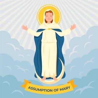Hemelvaart van maria illustratie