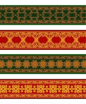Henna banner grens met kleurrijke rand