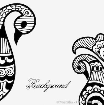 Henna mehandi vector achtergrond
