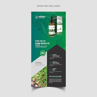 Hennep product rack-kaart of dl-flyersjabloon