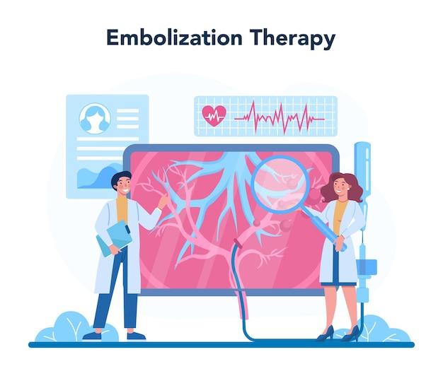 Hepatologist concept illustratie