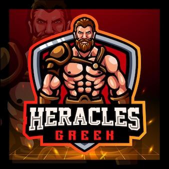 Heracles mascotte esport logo ontwerp