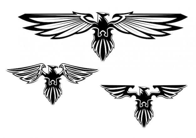 Heraldiek adelaar symbolen en tatoeage