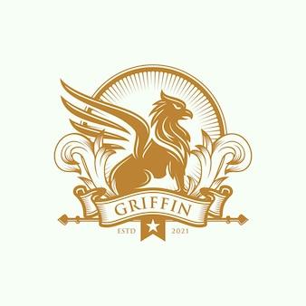Heraldiek griffin-logo-ontwerp