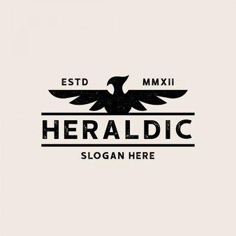 Heraldische adelaar vintage logo sjabloon