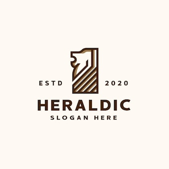 Heraldische leeuw logo sjabloon