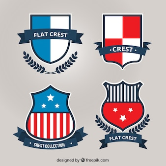 Heraldische schilden in plat design