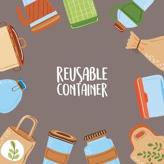 Herbruikbare containerposter