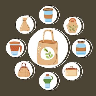 Herbruikbare containers en tassen