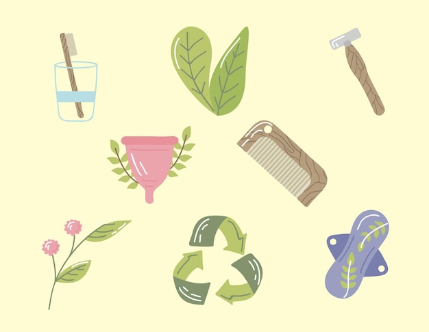 Herbruikbare voorwerpen voor persoonlijke hygiëne