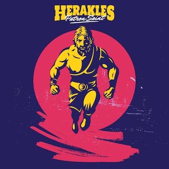 Hercules mascotte logo sjabloon