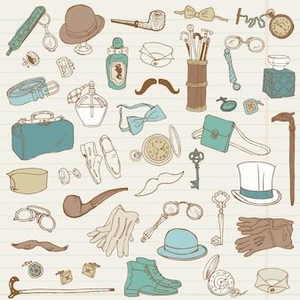 Herenaccessoires doodle collectie