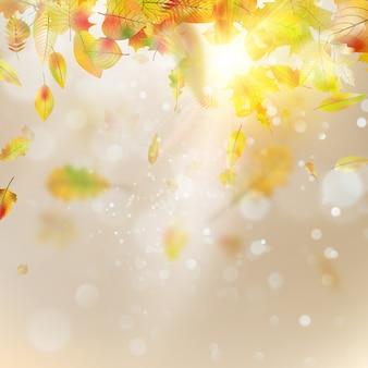 Herfst abstracte achtergrond. soepele licht warme zon sjabloon.