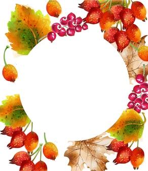 Herfst achtergrond aquarel