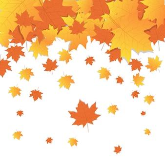 Herfst achtergrond geel esdoorn bladeren herfst seizoen