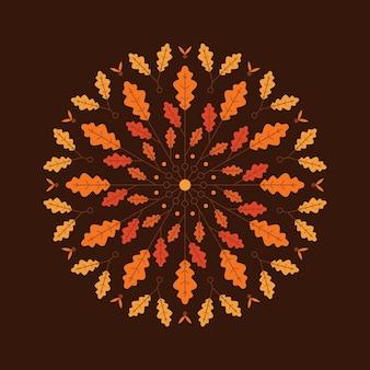 Herfst achtergrond illustratie in vlakke stijl