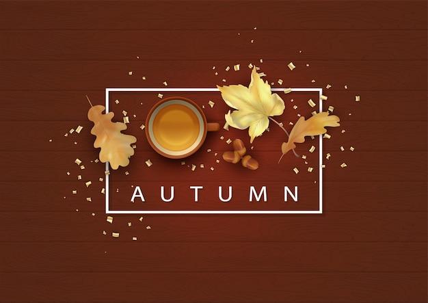 Herfst achtergrond illustratie