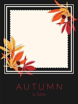 Herfst achtergrond met herfst is hier tekst.