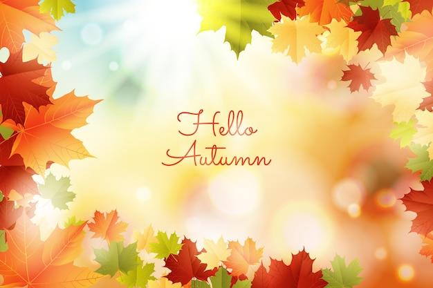 Herfst achtergrond met kleurovergang