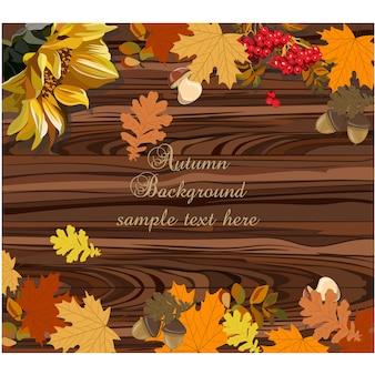 Herfst achtergrond ontwerp