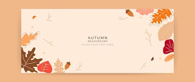 Herfst achtergrond Premium Vector