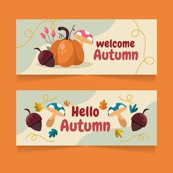 Herfst banners set