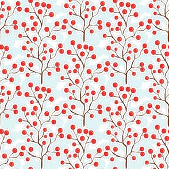 Herfst bessen patroon. herfst naadloze achtergrond voor textiel weefsel ontwerp.