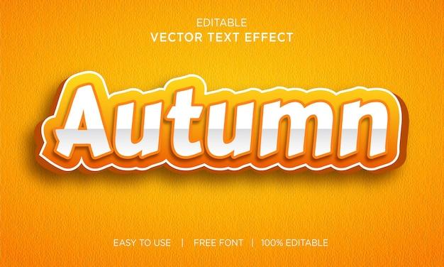 Herfst bewerkbaar 3d-teksteffect met premium vector