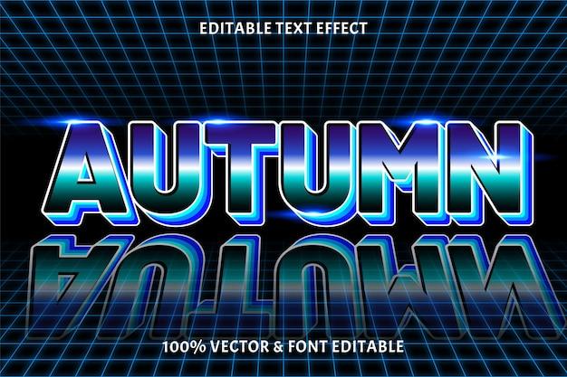 Herfst bewerkbaar teksteffect retro-stijl