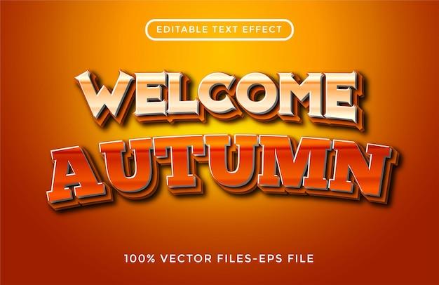 Herfst bewerkbare teksteffect premium vectoren