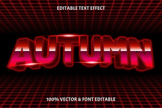 Herfst bewerkbare teksteffect retro-stijl