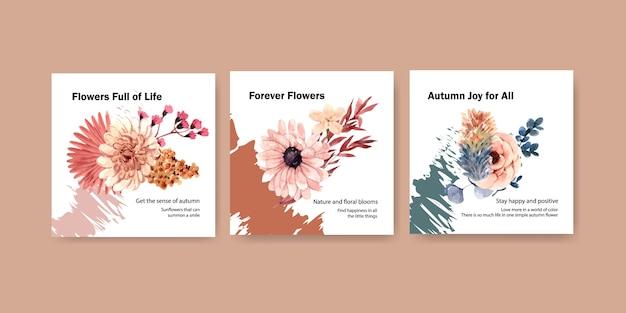 Herfst bloem conceptontwerp voor reclame en marketing