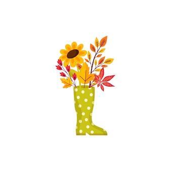 Herfst bloem illustraties. volledig seizoen. dankzegging.