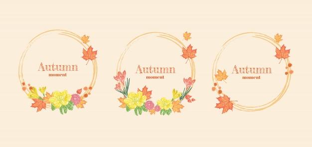 Herfst bloem krans