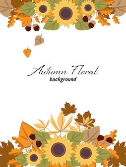 Herfst bloemen achtergrond