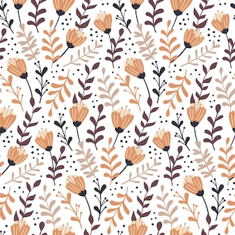 Herfst bloemen naadloze patroon.