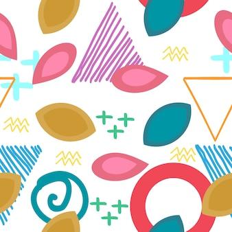 Herfst creatieve patroon met geometrische abstracte achtergrond