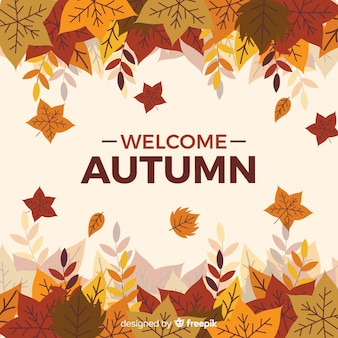 Herfst decoratieve achtergrond vlakke stijl