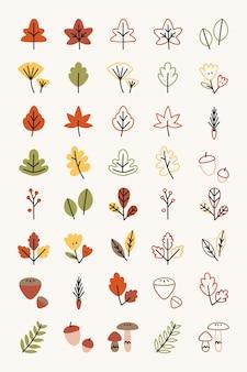 Herfst elementen