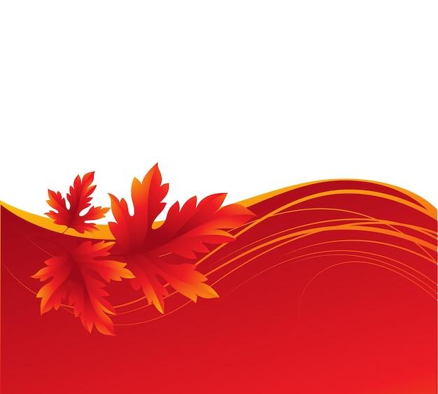 Herfst esdoorn bladeren achtergrond. vectorillustratie eps 10