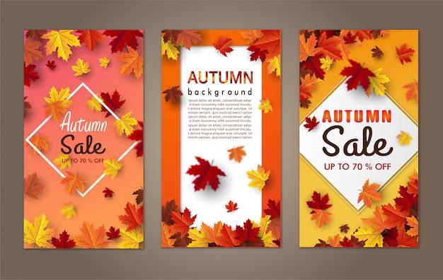 Herfst esdoornblad achtergrond banner