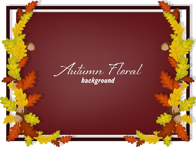 Herfst floral achtergrond.