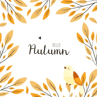 Herfst frame illustratie. herfst seizoen.