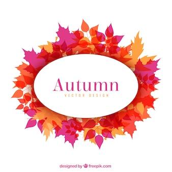 Herfst frame met bladeren