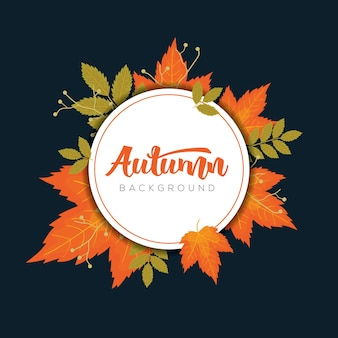Herfst frame met herfstbladeren sjablonen