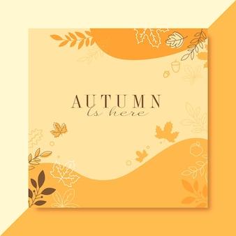 Herfst instagram postsjabloon
