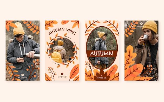 Herfst instagram verhalencollectie met foto