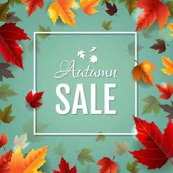 Herfst kleurrijke banner geïsoleerd witte achtergrond