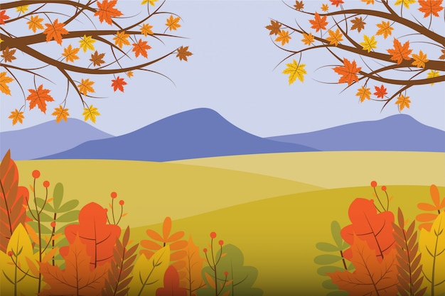Herfst landschap illustratie