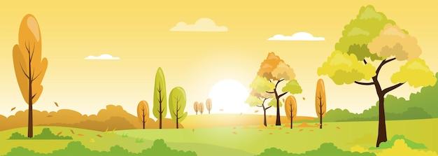 Herfst landschap landschap seizoen